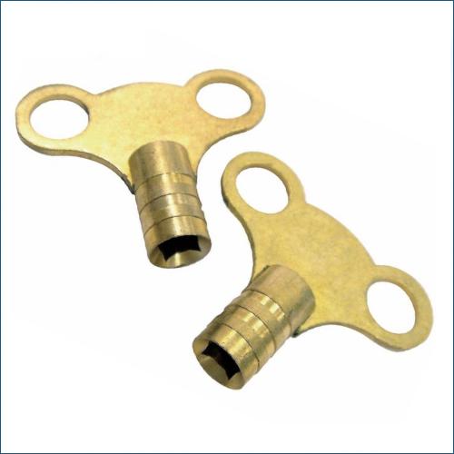 Solid brass radiator bleed keys plumbing tool key ebay